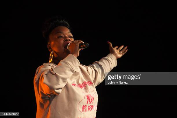 Roxanne Shanté performs at the YO! MTV Raps 30th Anniversary Live Event at Barclays Center on June 1, 2018 in New York City.