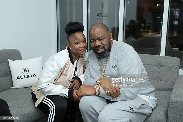 """Roxanne Shante and Biz Markie attend the """"Roxanne, Roxanne"""" party at the Acura Studio during Sundance Film Festival 2017 on January 22, 2017 in Park..."""