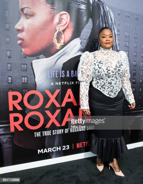 Roxanne Shante attends the 'Roxanne Roxanne' New York Premiere at SVA Theater on March 19 2018 in New York City