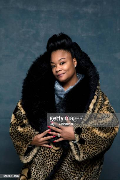 """Roxanne Shante, from the film """"Roxanne, Roxanne,"""" is photographed at the 2017 Sundance Film Festival for Los Angeles Times on January 21, 2017 in..."""