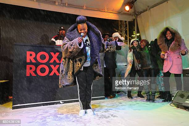 """Roxanne Shante performs onstage at the """"Roxanne, Roxanne"""" party in the Acura Festival Village during Sundance Film Festival 2017 on January 22, 2017..."""