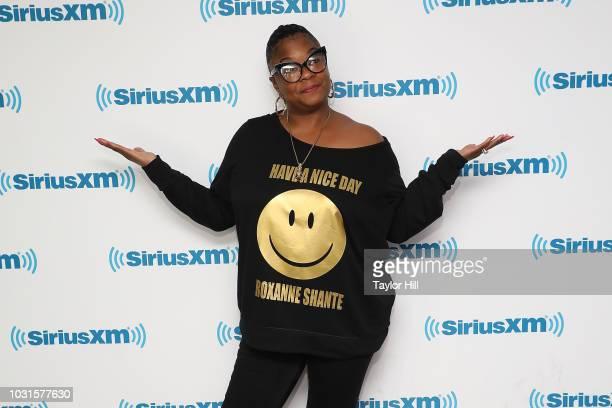 Roxanne Shante visits the SiriusXM Studios on September 11, 2018 in New York City.