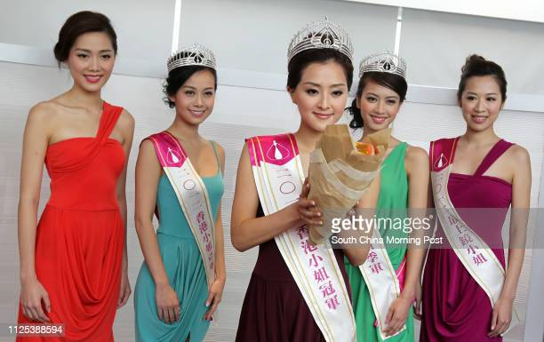 Roxanne Tong Tourism Ambassador Sublime Beauty Ambassador of Miss Hong Kong Jacqueline Wong first runner up of Miss Hong Kong Carat Cheung Miss Hong...