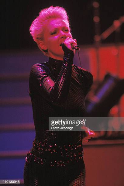 Roxette singer Marie Fredriksson during a live performance in San Francisco