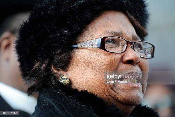 Roxey BookerWalton joins family and friends during a press conferenceThursday February 24 2011 in front of the LindseyFlanigan Denver District...