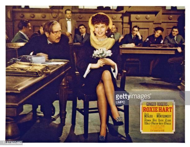 Roxie Hart, US lobbycard, from left: Adolphe Menjou, Ginger Rogers, 1942.