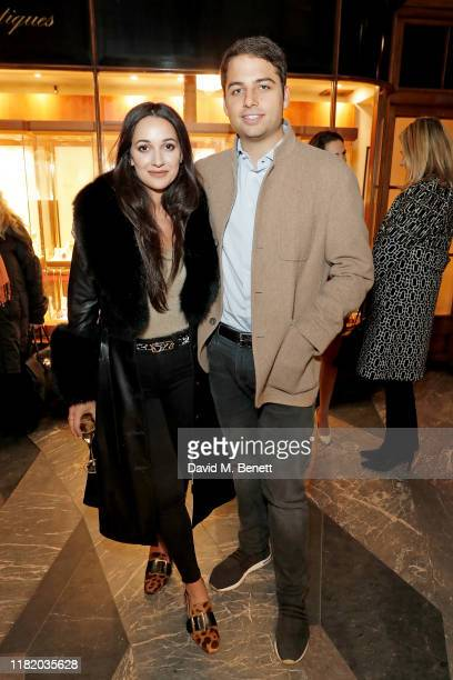 Roxie Nafousi and Jamie Reuben attend the launch of the 200th Burlington Christmas at Burlington Arcade on November 12 2019 in London England
