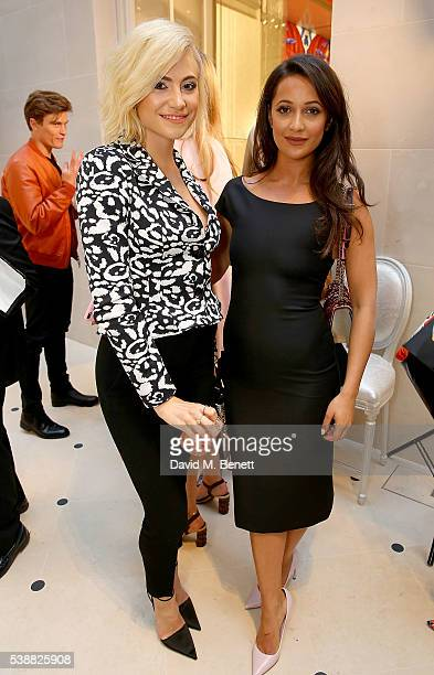 Roxie Nafousi and Pixie Lott attend the opening of the House Of Dior on New Bond Street on June 8 2016 in London England