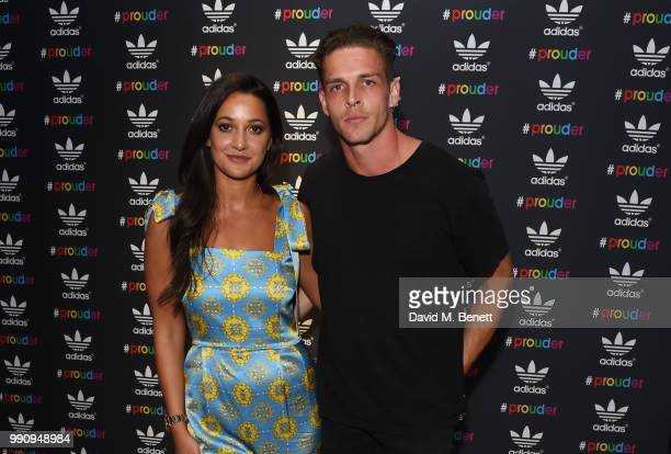 Roxie Nafousi and Wade Briggs attend adidas 'Prouder' A Fat Tony Project in aid of the Albert Kennedy Trust supporting LGBT youth at Heni Gallery...