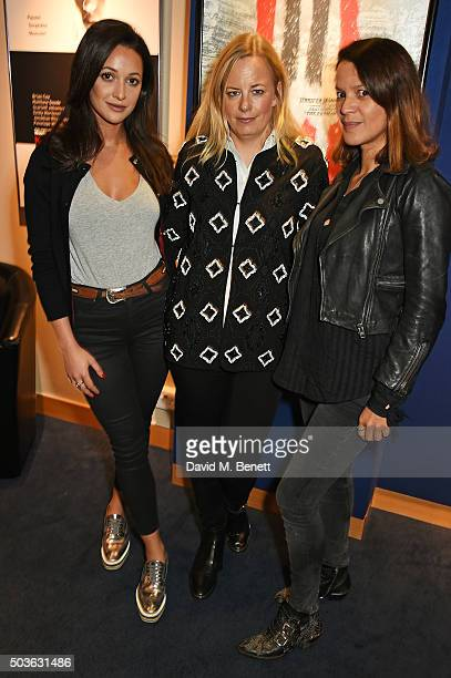 Roxie Nafousi Astrid Harbord and Lisa Moorish attend a special screening of The Hateful Eight hosted by The Weinstein Company at the Soho Screening...