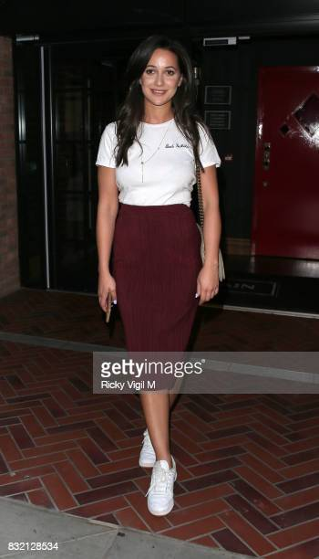 Roxie Nafousi attends Ella Eyre single launch party at The Curtain on August 15 2017 in London England