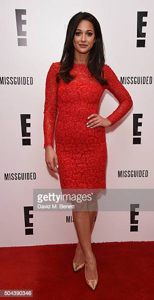 Roxie Nafousi attends E's Live From The Red Carpet Golden Globes Watch Along Party held at St Martin's Lane Hotel on January 10 2016 in London England