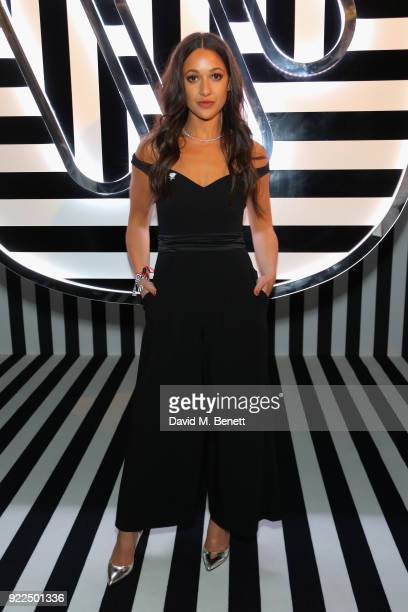 Roxie Nafousi attends the Brits Awards 2018 After Party hosted by Warner Music Group Ciroc and British GQ at Freemasons Hall on February 21 2018 in...