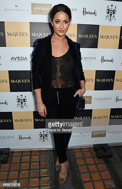 Roxie Nafousi attends the exclusive viewing of 'McQueen' hosted by Karim Al Fayed for Lonely Rock Investments during London Fashion Week at Theatre...