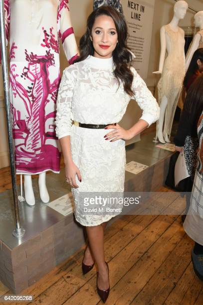 Roxie Nafousi attends the launch of the LFW International Fashion Showcase 2017 in the West Wing Galleries at Somerset House on February 16 2017 in...
