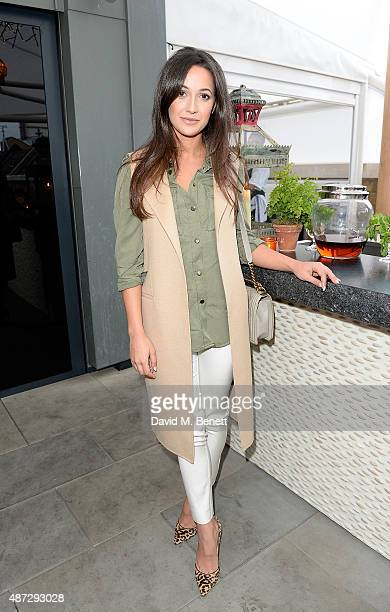 Roxie Nafousi attends the Nine by Savannah Miller for Debenhams Launch Party at The Roof Terrace Ham Yard Hotel on September 8 2015 in London England