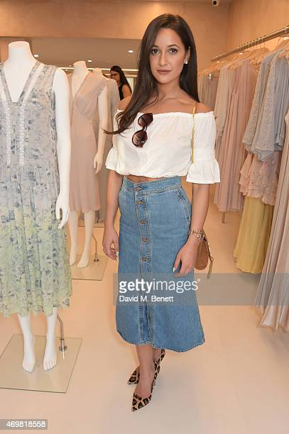 Roxie Nafousi attends the reinvention of Ghost on Kings Road hosted by Touker Suleyman on April 15 2015 in London England