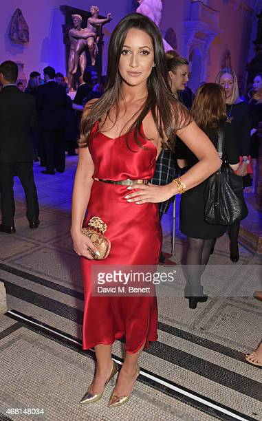 Roxie Nafousi attends the Samsung BlueHouse private view of the 'Alexander McQueen Savage Beauty' exhibition at the Victoria Albert Museum on March...
