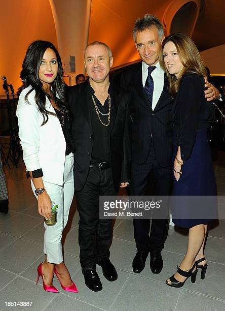 Roxie Nafousie Damien Hirst Geoffroy de la Bourdonnaye and Clare Waight Keller attend a Cocktail party to Celebrate the Launch of the Book Chloe...