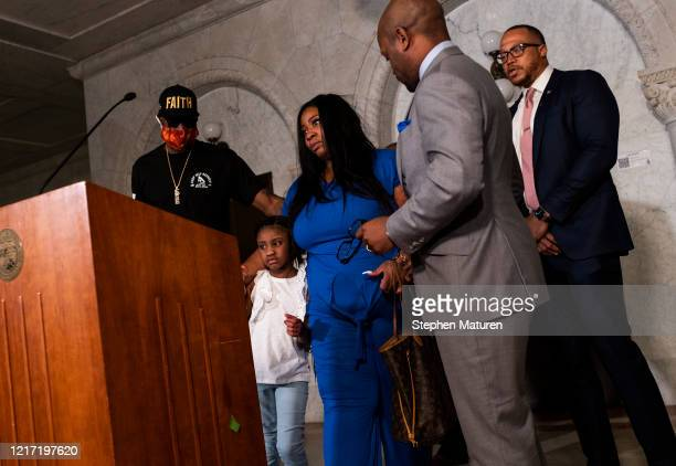 Roxie Washington the mother of George Floyd's daughter Gianna Floyd speaks at a press conference on June 2 2020 in Minneapolis Minnesota Washington...
