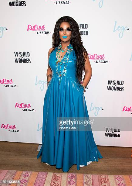 Roxxxy Andrews attends the RuPaul's Drag Race All Stars season two premiere at Crosby Street Hotel on August 23 2016 in New York City