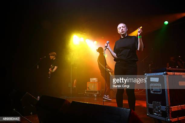 Roxy Brennan and Kate Stonestreet of Joanna Gruesome perform live on stage at Scala on September 22 2015 in London England