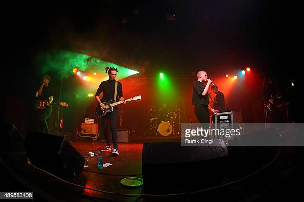 Roxy Brennan George Nicholls Kate Stonestreet Max Warren and Owen Williams of Joanna Gruesome perform live on stage at Scala on September 22 2015 in...