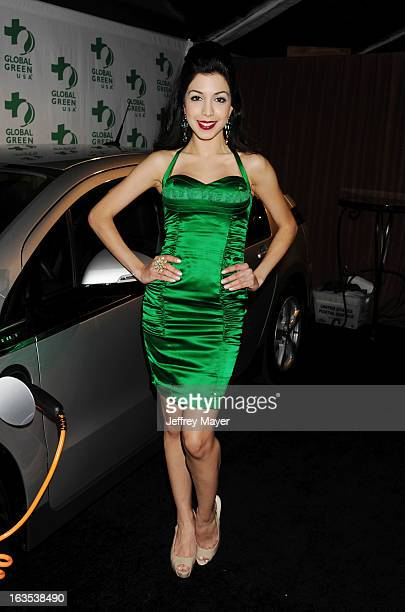 Roxy Darr arrives at Global Green USA's 10th Annual PreOscar party at Avalon on February 20 2013 in Hollywood California