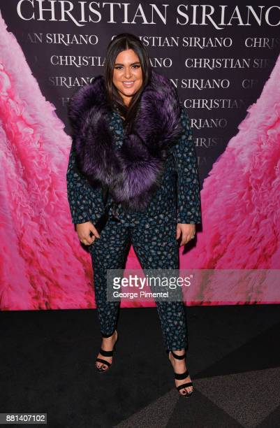 Roxy Earle attends Christian Siriano Canadian Book Launch held at Bisha Hotel Residences on November 28 2017 in Toronto Canada