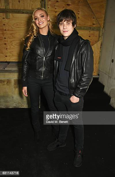Roxy Horner and Jake Bugg attend the What We Wear show during London Fashion Week Men's January 2017 collections at the BFC Show Space on January 7...