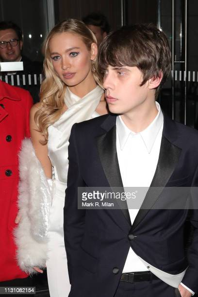 Roxy Horner and Jake Buggattending the Sony BRITS 2019 After Party at Aquashard on February 20 2019 in London England