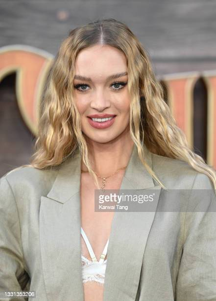 """Roxy Horner attends Disney's """"Jungle Cruise"""" UK premiere at Cineworld Leicester Square on July 29, 2021 in London, England."""