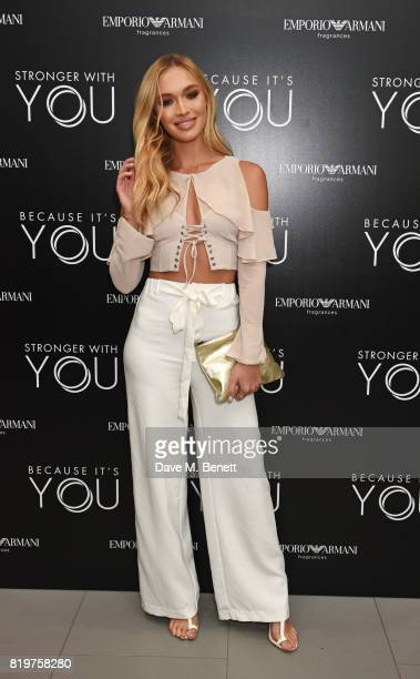 Roxy Horner attends the Emporio Armani You Fragrance launch at Sea Containers on July 20 2017 in London England