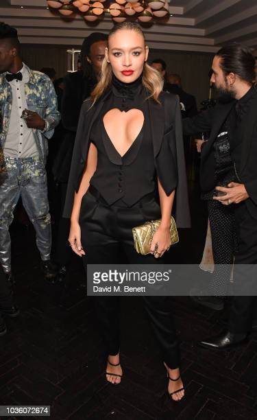 Roxy Horner attends the Joshua Kane collection preview and party at The Mandrake Hotel on September 19 2018 in London England