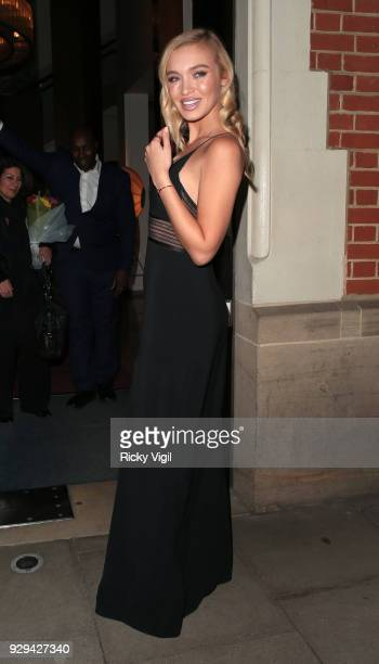 Roxy Horner seen attending The Bardou Foundation International Women's Day Gala at The Hospital Club on March 8 2018 in London England