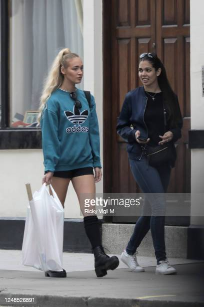 Roxy Horner seen out and about in Notting Hill with a friend doing some shopping on June 09, 2020 in London, England.