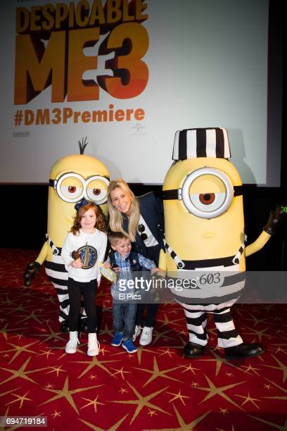 Roxy Jacenko and children attends the Despicable Me 3 Premiere at Entertainment Quarter on June 10 2017 in Sydney Australia
