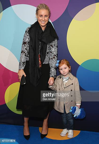 Roxy Jacenko and daughter Pixie Curtis arrive at the Australian premiere of 'Inside Out' at Event Cinemas George Street on June 15 2015 in Sydney...
