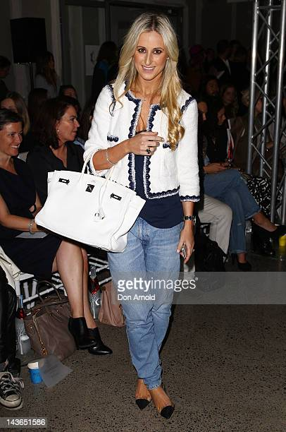 Roxy Jacenko arrives for the Ellery show on day three of MercedesBenz Fashion Week Australia Spring/Summer 2012/13 at 320 Liverpool Street on May 2...