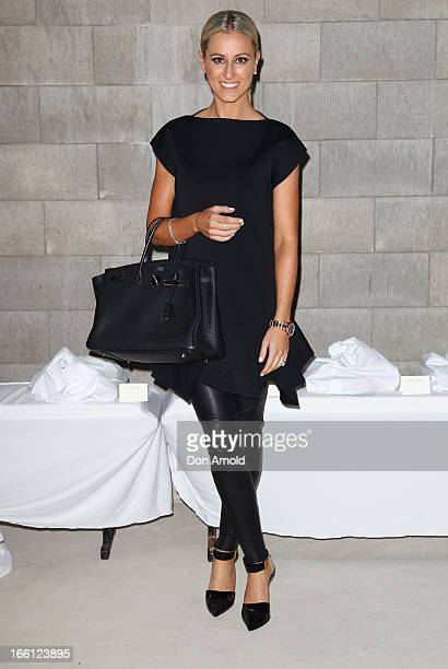Roxy Jacenko attends the Ellery show during MercedesBenz Fashion Week Australia Spring/Summer 2013/14 at an offsite venue on April 9 2013 in Sydney...