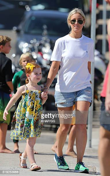 Roxy Jacenko is seen with her daughter Pixie on April 2 2016 in Sydney Australia
