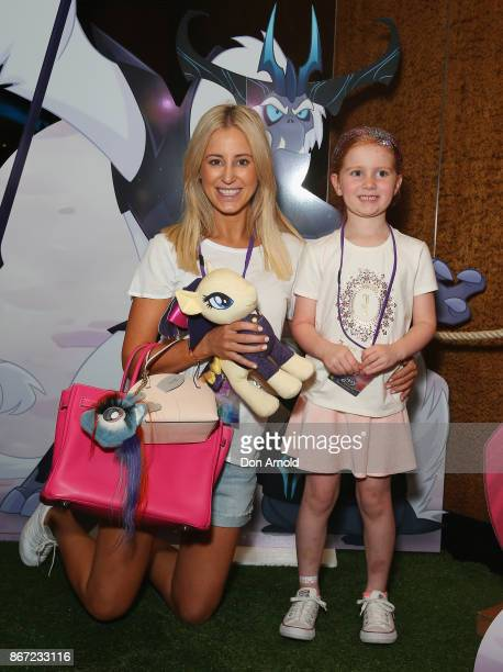 Roxy Jacenko poses alongside daughter Pixie Curtis ahead of the My Little Pony The Movie Sydney Premiere on October 28 2017 in Sydney Australia
