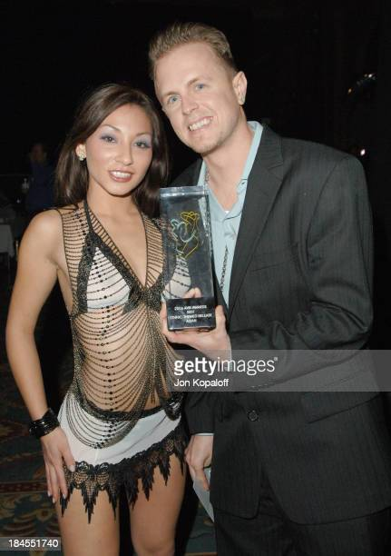 Roxy Jezel and Jules Jordan Award Winner during 2006 AVN Awards Arrivals and Backstage at The Venetian Hotel in Las Vegas Nevada United States