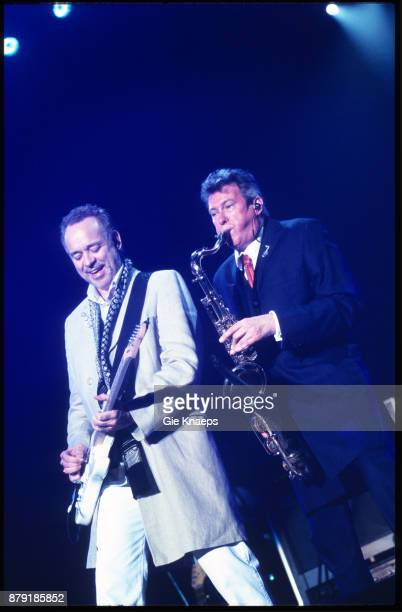 Roxy Music Phil Manzanera Andy Mackay performing on stage Rock Werchter Festival Werchter Belgium July 2001
