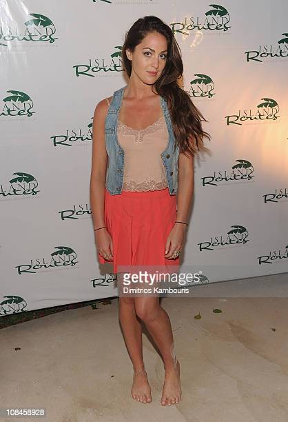 Roxy Olin attends the Sandals Emerald Bay celebrity golf tournament awards ceremony at Sandals Emerald Bay Resort on April 10 2010 in Great Exuma...