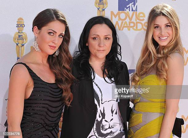 Roxy Olin Kelly Cutrone and Whitney Port arrive at the 2010 MTV Movie Awards Arrivals at Gibson Amphitheatre on June 6 2010 in Universal City...