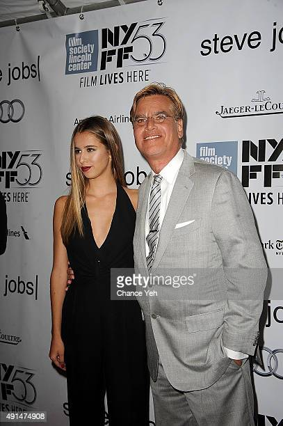 """Roxy Sorkin and Aaron Sorkin attend the 53rd New York Film Festival """"Steve Jobs"""" screening at Alice Tully Hall on October 3, 2015 in New York City."""