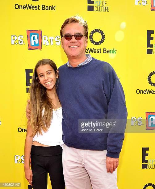 Roxy Sorkin and writer Aaron Sorkin attend the 2013 P.S. Arts Express Yourself at Barker Hangar on November 17, 2013 in Santa Monica, California.
