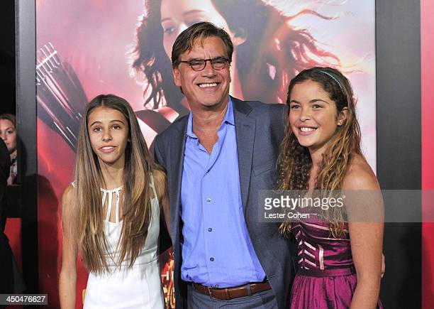 """Roxy Sorkin, writer/producer Aaron Sorkin and guest rrive at the Los Angeles prremiere of """"The Hunger Games: Catching Fire"""" at Nokia Theatre L.A...."""