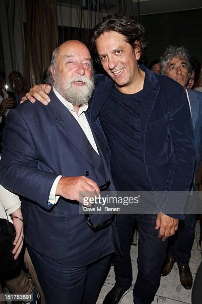 Roy Ackerman and Giorgio Locatelli attend as Locanda Locatelli celebrates it's 10th Anniversary on September 11 2012 in London England